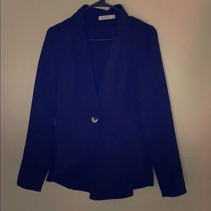 Black blazer with zippered back
